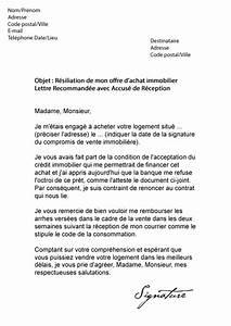 Documents Pour Compromis De Vente : modele lettre resiliation vente immobiliere ~ Gottalentnigeria.com Avis de Voitures