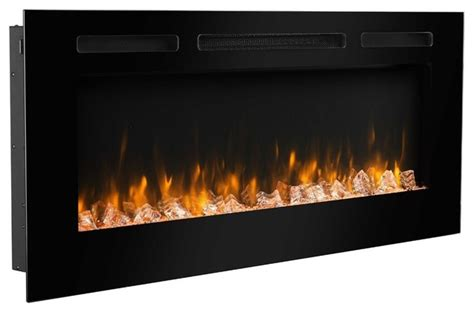puraflame   wall recessed electric fireplace touch