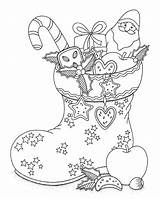 Coloring Merry Gifts Crafts Adult Colors sketch template