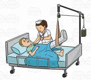 Patient in Hospital Bed Clip Art (27+)