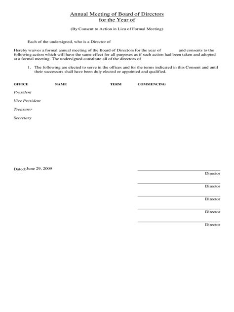 annual board of directors meeting minutes template annual general meeting agenda template 8 free templates in pdf word excel