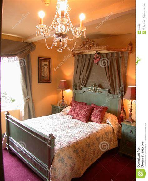 chambre a coucher romantique romantische slaapkamer stock foto afbeelding bestaande