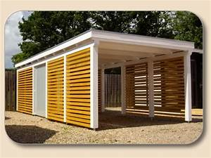 Einzelcarport Mit Geräteraum : einzelcarport flachdach als bausatz carport holz ~ Buech-reservation.com Haus und Dekorationen