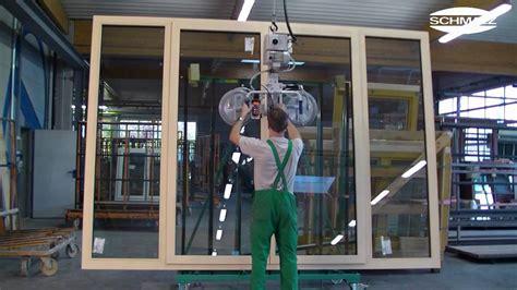 vacuum lifting device handling sheets glass multi casement windows schmalz youtube