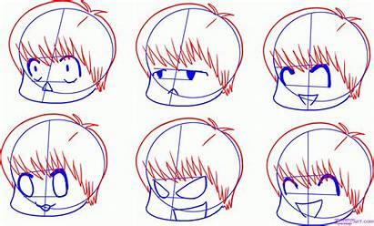 Chibi Draw Step Expressions Anime Drawing Manga