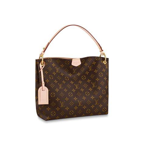 graceful pm monogram  beige handbags  louis vuitton
