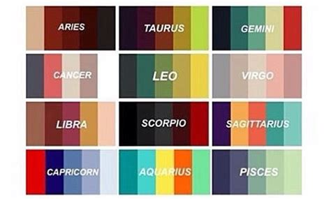 sagittarius color zodiacs colour palette mostly virgo in 2019 zodiac
