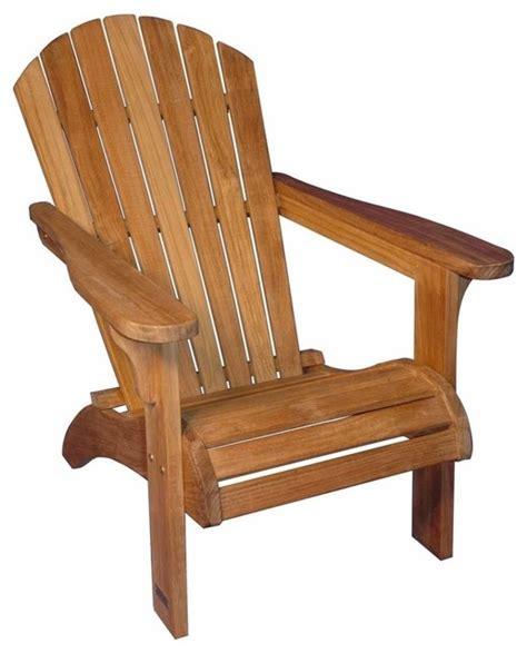 adirondack chair solid teak contemporary adirondack