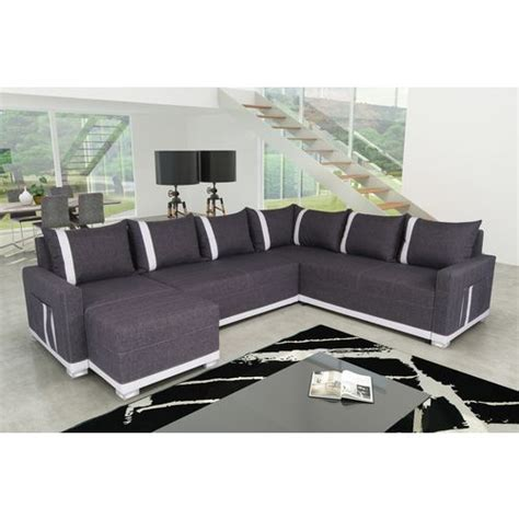 canapé angle 6 places sofa canapé d 39 angle convertible 6 places light