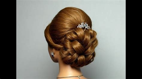 wedding prom hairstyle for hair bridal updo youtube