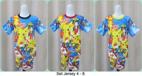 kaos anak baju anak setelan anak grosiran setelan anak jersey karakter murah tanah abang