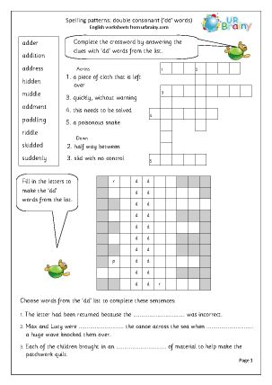 Double Consonant Worksheets  Bing Images