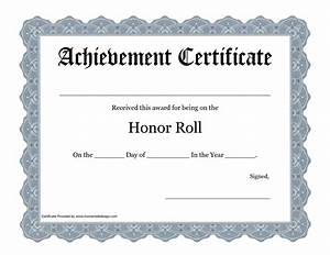 a b honor roll certificate template best free home With a b honor roll certificate template
