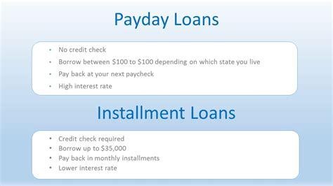 Understanding Payday Loans Vs Personal Installment Loans