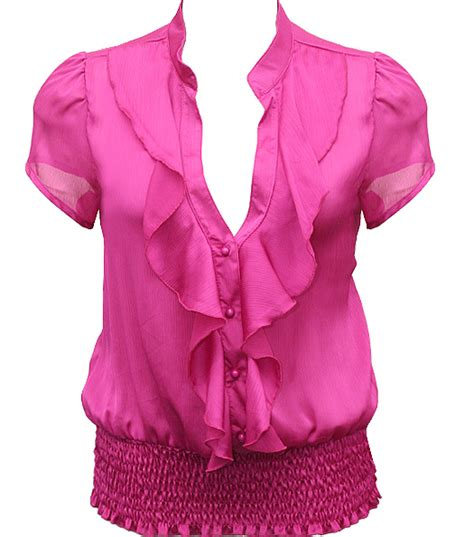 pink blouses pink ruffle blouse plus size 39 s lace blouses