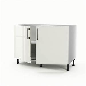 Meuble Sous Evier 120 : meuble de cuisine sous vier beige 2 portes perle x l ~ Nature-et-papiers.com Idées de Décoration