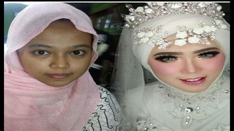 tutorial rias hijab pengantin ala barbie youtube