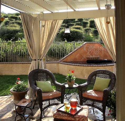 Patio Curtains Outdoor Idea by Outdoor Design Adventures In Styleland