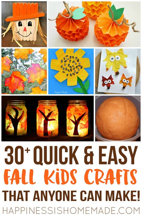 quick easy fall kids crafts