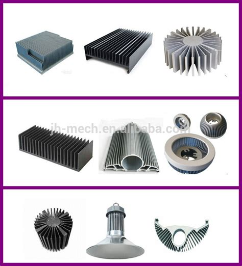 flexible aluminum heat sink silver anodized decorated led light flexible heat sink