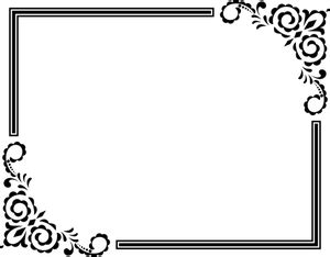 gambar bunga hiasan bingkai gambar bunga