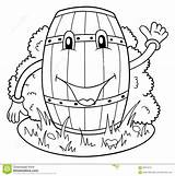 Keg Funny Coloring Illustration Drawing Getdrawings Drawings sketch template