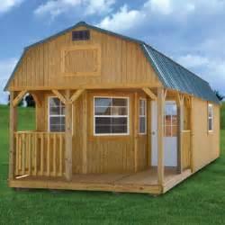 treated deluxe lofted barn cabin derksen portable buildings