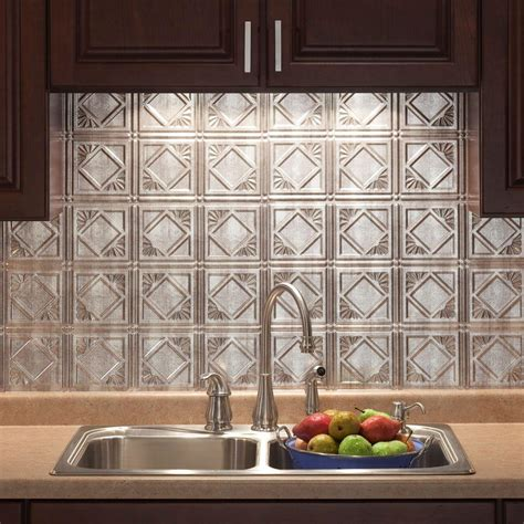 kitchen wall backsplash panels 18 in x 24 in traditional 4 pvc decorative backsplash