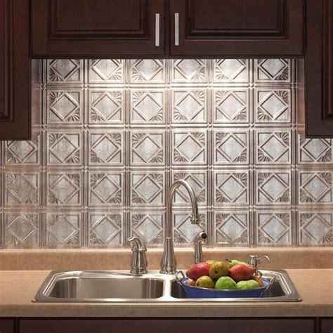 home depot kitchen tile backsplash 18 in x 24 in traditional 4 pvc decorative backsplash