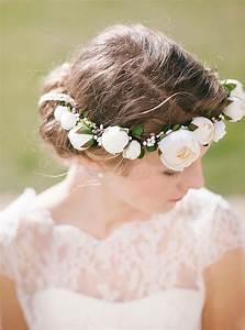 Couronne De Fleurs Cheveux Mariage : couronne de fleurs pour la mari e ~ Farleysfitness.com Idées de Décoration