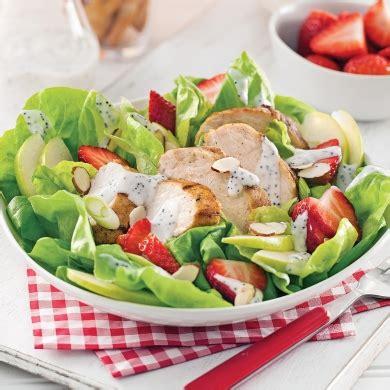 cuisine au grill salade estivale au poulet grillé recettes cuisine et
