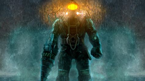 full hd wallpaper bioshock diving suit heavy rain