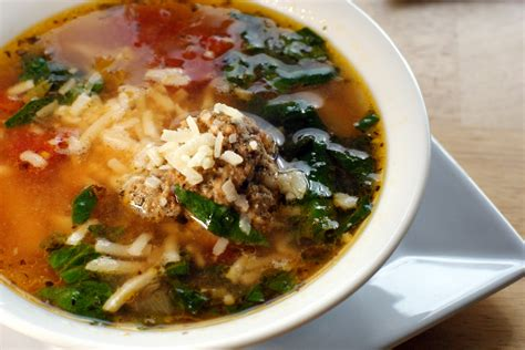merlin menu meatball spinach pasta soup
