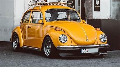 Beetle Volkswagen Yellow Retro 1080p 4k Uhd