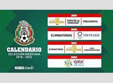 Selección Mexicana El calendario de la selección mexicana