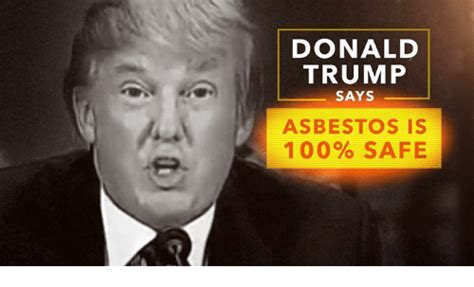 Donald Trump Says Asbestos Is 100% Safe