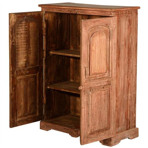 wood storage cabinet new orleans rustic reclaimed wood storage cabinet armoire