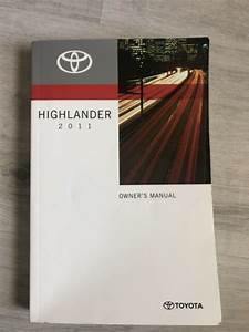 2011 11 Toyota Highlander Owners Manual Guide M0212