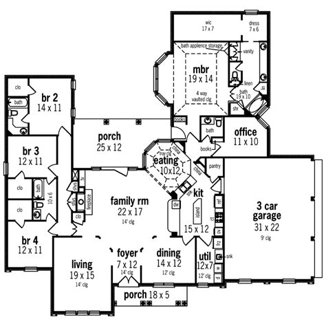 house plans and more sunbelt home plan floor 020d 0328 house plans and