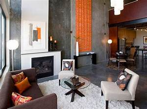Exposed Concrete Wall In Living Room Decoist