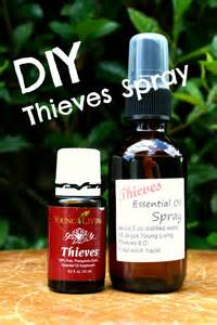 DIY Essential Oil Young Living Thieves Spray