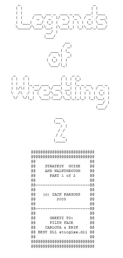 SA FAQ: Legends of Wrestling II (Xbox) - Part 1 of 2
