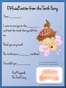 Tooth fairy letter free printable for Letter from the tooth fairy template