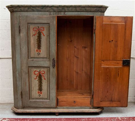 Blue Wardrobes For Sale by Painted Pine Armoire For Sale At 1stdibs