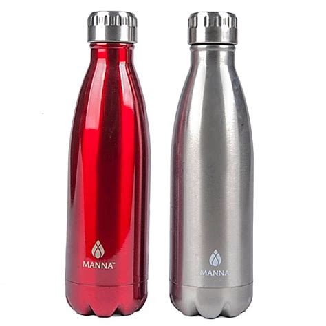 buy manna vogue 2 pack 17 oz stainless steel vacuum insulated water bottles in from bed