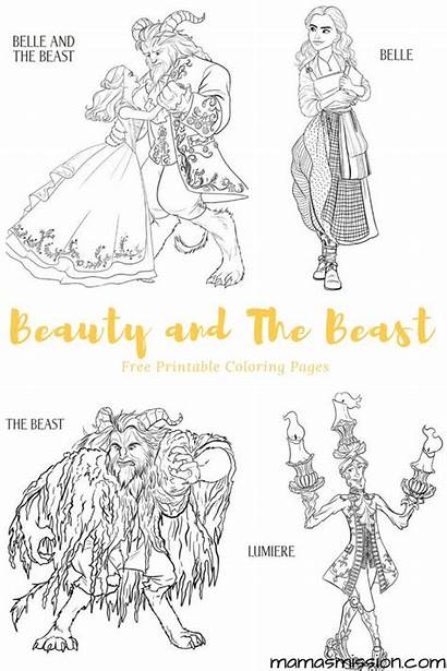 Beast Coloring Beauty Pages Printables Belle Printable