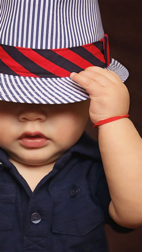 wallpaper cute baby boy hat style hd  cute