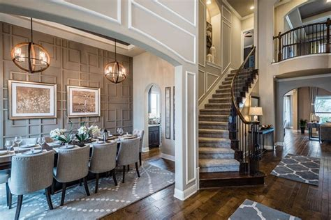 grand entrance dining room accent wall home  homes