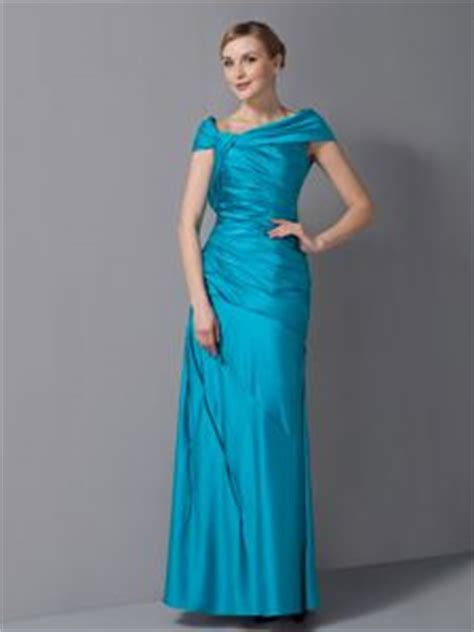 asymmetrical ankle length ruched teal column mother