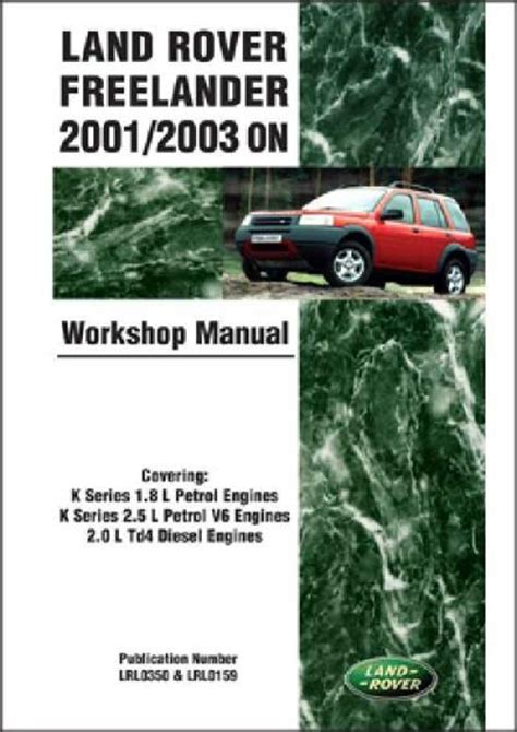 manual repair autos 2001 land rover range rover regenerative braking land rover freelander 2001 2003 on workshop manual brooklands books ltd uk sagin workshop car